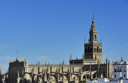 view of  the Cathedral of Seville, Seville, Spain
