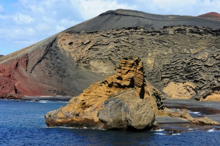 golfo: coast near of Green Lagoon, El Golfo, Lanzarote, Canary Islands, Spain