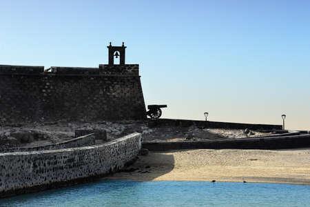 lanzarote: view at Castle of San Gabriel, Lanzarote, Canary Islands, Spain Stock Photo