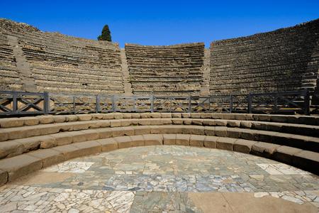 The Small Theatre, Pompeii, Italy 免版税图像