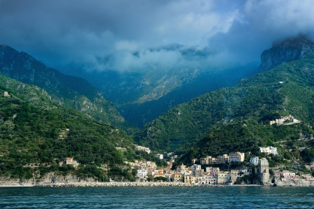 view of Amalfi coast, Campania, Italy photo