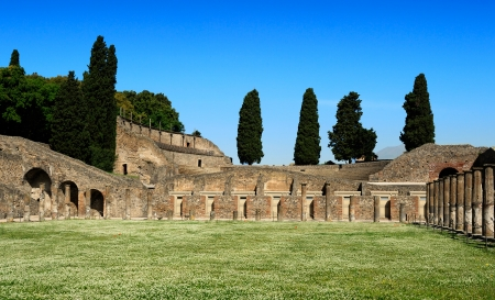 the Quadriportico  Gladiators Barracks , Pompeii, Italy photo