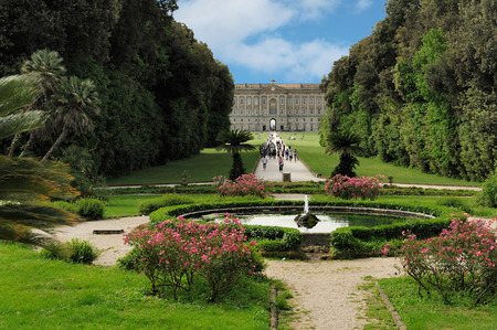 at the garden of the royal residence at Caserta, Italy