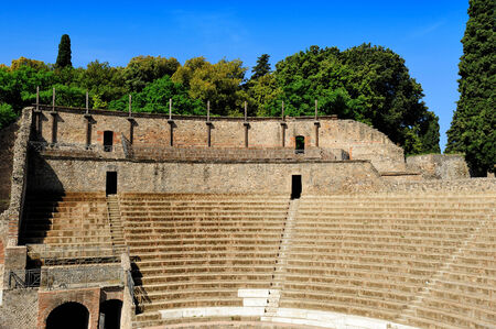 The Large Theatre, Pompeii, Italy photo