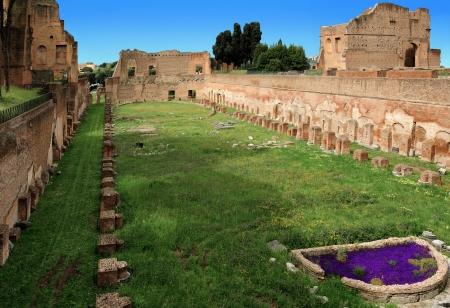 palatine: Stadium at the Palatine Hill, Rome, Italy Stock Photo