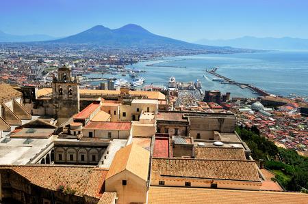 view from the San Martino carthesian monastery, Naples, Italy 免版税图像