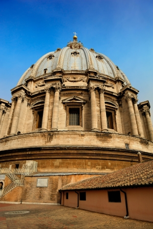 st peter s basilica: on the dome of St  Peter s Basilica, Vatican Editorial