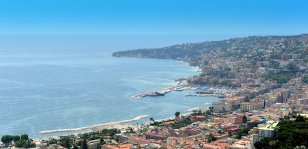 view of coast of Naples, Italy
