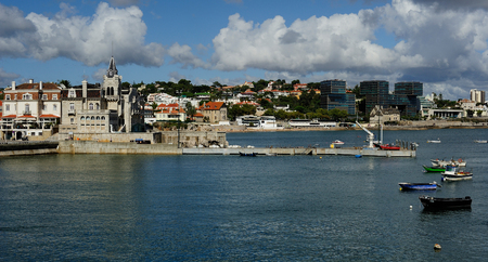 view of the coastline at Cascais, Portugal