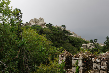 heritage protection: The Castle of the Moors (Castelo dos Mouros) , Sintra, Portugal