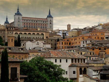alcazar: view of Alcazar and old part of Toledo, Spain