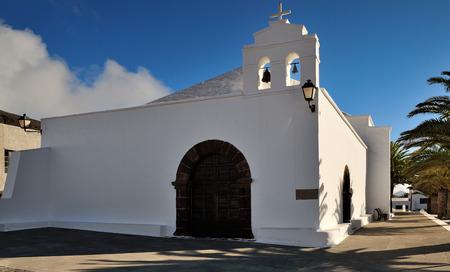 village church Ermita de San Marcial del Rubicon at Femes, Lanzarote Island, Canary Islands, Spain