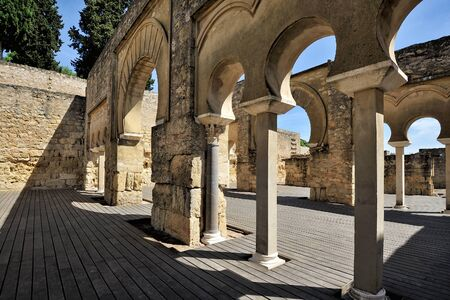 caliphate: Medina Azahara, the ruins of a fortified Arab Muslim medieval palace-city near Cordoba, Spain