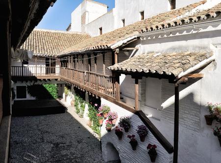 fiesta popular: Cordoba, Spain - patio of Centro Flamenco Fosforito at Posada del Potro, mentioned by Cervantes in Don Quixote.
