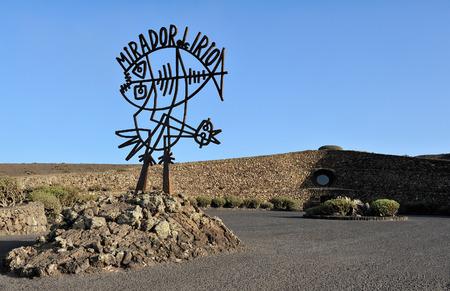 manrique: Lanzarote Island, Spain - sculpture by Cesar Manrique near Mirador del Rio. Stock Photo