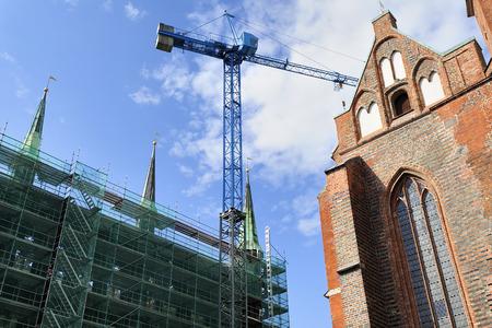 rearrangement: restoration of an old gothic church