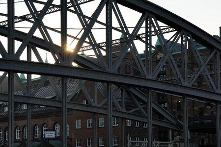 altstadt: Kornhausbrucke Kornhaus Bridge over Zollkanal, Hamburg, Germany Stock Photo