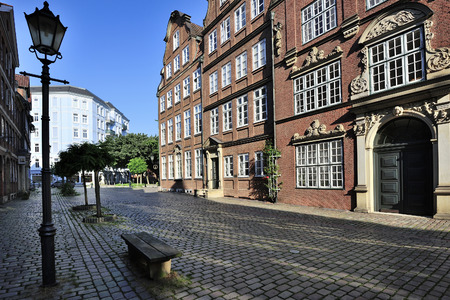 bourgeois: Peterstrasse was built after the WWII as a way of remembering the past.Wonderful examples of brick and half-timbered houses, the buildings are copies of bourgeois residential property that were built in the city between 1610 and 1780.