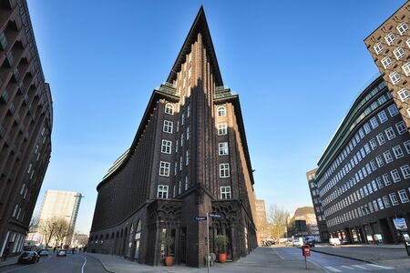 exceptional: Chile House  is an exceptional example of the 1920s Brick expressionism style of architecture, Hamburg, Germany
