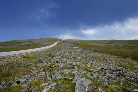 the road to Nordkapp, Finnmark, Norway Stock Photo