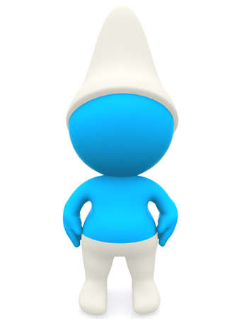 3D man dressed as a smurf - isolated over a white background photo