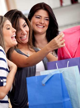 Group of women at a retail store shopping for clothes Stock Photo - 11292022