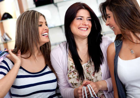 Group of female shoppers at a shopping center  photo