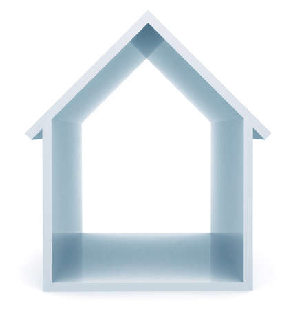 lettings: 3d house illustration - isolated over a white background
