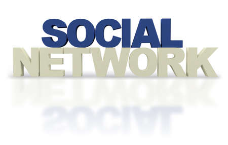 nexus: Social network  isolated over a white background - 3D text Stock Photo