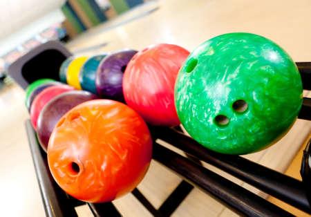 chosen: Colorful bawling ball waiting to be chosen