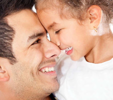 Portrait of lovely a daddys girl smiling  photo