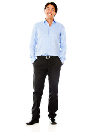 Casual business man - isolated over a white background