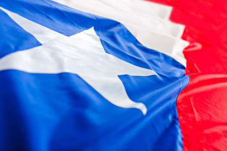 Close up shot of the Chilean flag  Stock Photo - 13030927