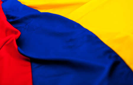 Close up shot of the Colombian flag  photo