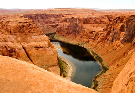 Beautiful landscape at the Grand Canyon with the Colorado River  photo