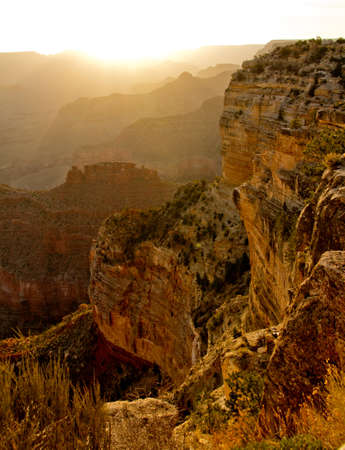Beautiful picture of a sunset at the Grand Canyon  photo