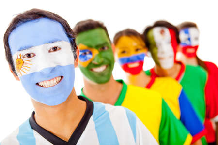 Argentina leading a Latin group - isolated over a white background  photo