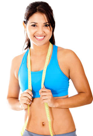 Fit woman with tape measure - weight loss concepts  photo