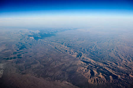 viewed: Photograph of earth viewed from the air  Stock Photo