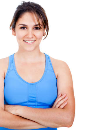 Woman in sportswear - isolated over a white background  Stock Photo - 13359816