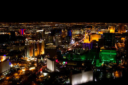 city lights: Image of beautiful Las Vegas city at night