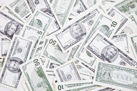 capitalismo: Primer plano de un mont�n de billetes de un d�lar - los conceptos de dinero Foto de archivo