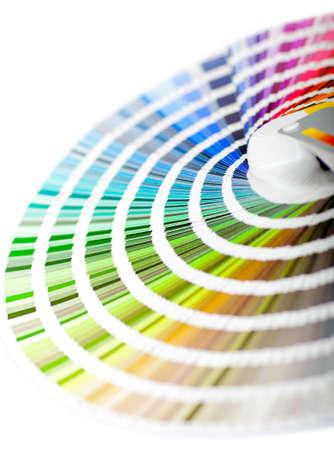 decorando: Gu�a de color - aislados en un fondo blanco