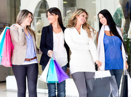 Group of girls shopping at the mall  photo