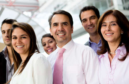 Entrepreneurs: Group of successful business people lat the office Stock Photo
