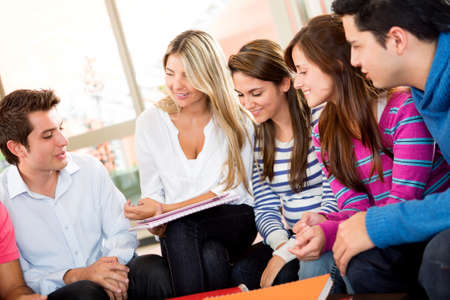 Group of friends together talking and having a good time  Stock Photo - 14318032