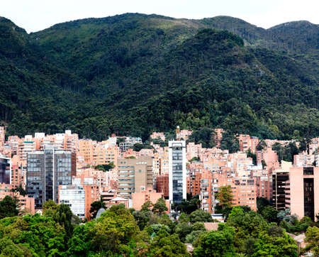 colombia: Beautiful picture of the mountains surrounding Bogota - Colombia  Stock Photo