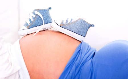 its a boy: Pregnant woman making preparations cause its a boy