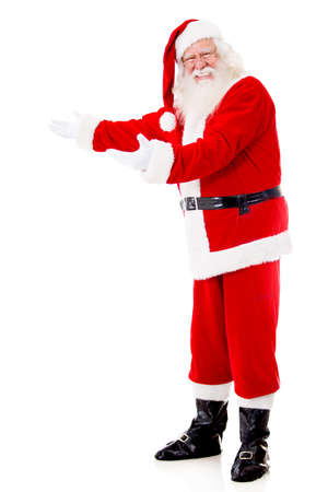 Welcoming Santa Claus looking very happy - isolated over a white background  Stock Photo - 16409392