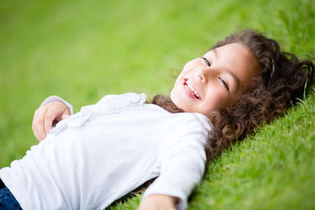 Beautiful girl having fun at the park Stock Photo - 16586959